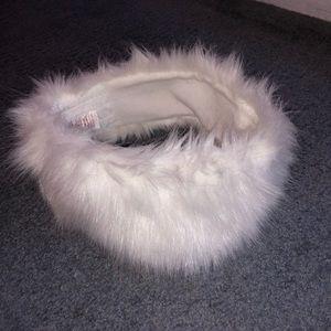 Accessories - Fur Headband - White
